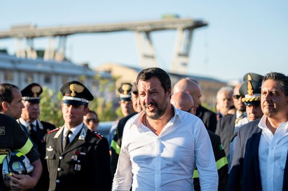 Atlantia Sinks as Italy Proceeds With Revoking Toll-Road License