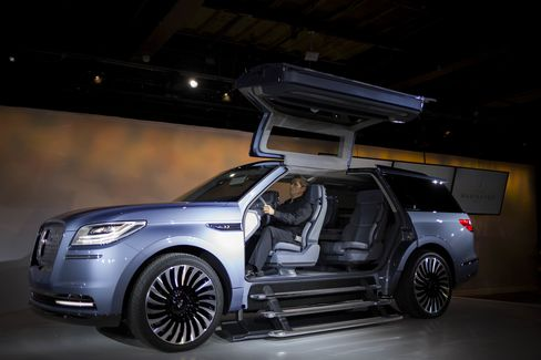 The Ford Motor Co. Lincoln Navigator Concept is unveiled ahead of the 2016 New York International Auto Show on March 21, 2016.