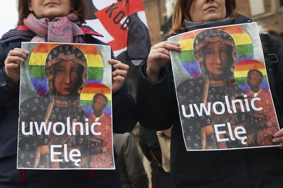 Poland Ignites Outrage With Crackdown on Virgin Icon's LGBT Halo