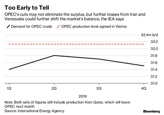 IEA Says Too Early to Tell If OPEC+ Oil-Supply Cuts Will Succeed
