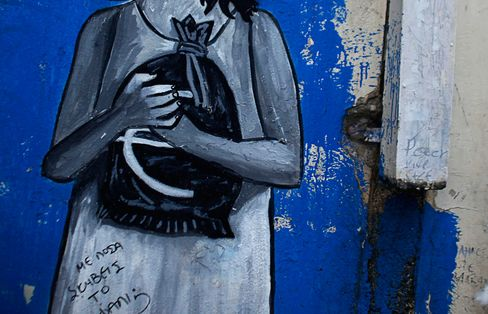 As world leaders struggle to keep Greece in the euro, artists are taking to the streets to express their own view of how the crisis should play out. Click image to see more.