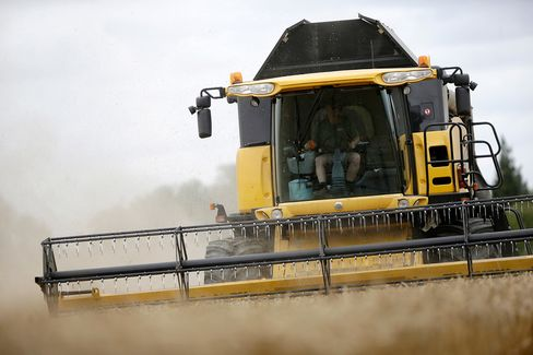 Wheat harvest near the village of Fulbourn, U.K. on Aug. 4, 2015.