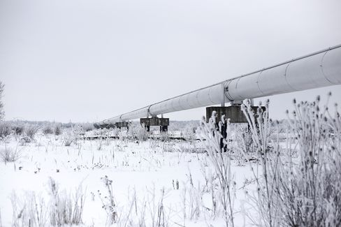 A Section of the West-Siberian Pipeline Stands in Ukraine