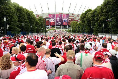 Poland, Ukraine Suffer as Euro Soccer Hosts