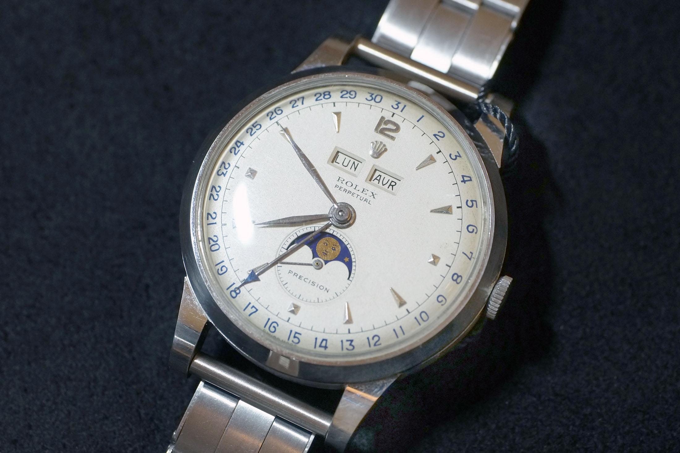 Rolex Steel Triple Calendar Ref. 8171 (Lot 167)