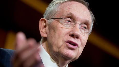Senate Majority Leader Harry Reid, a Democrat from Nevada, speaks during a news conference at the U.S. Capitol Building in Washington, D.C., U.S., on Thursday, Sept. 19, 2014.