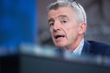 Michael O'Leary, chief executive officer of Ryanair Holdings Plc, speaks during a Bloomberg Television interview in London, U.K., on Monday, May 23, 2016. Ryanair forecast that earnings growth will slow this year as a spate of terror attacks and lower fuel prices prompt airlines to cut ticket prices. *** Local Caption *** Michael O'Leary