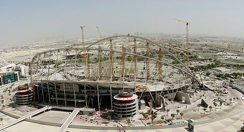 The Khalifa International Stadium in Doha