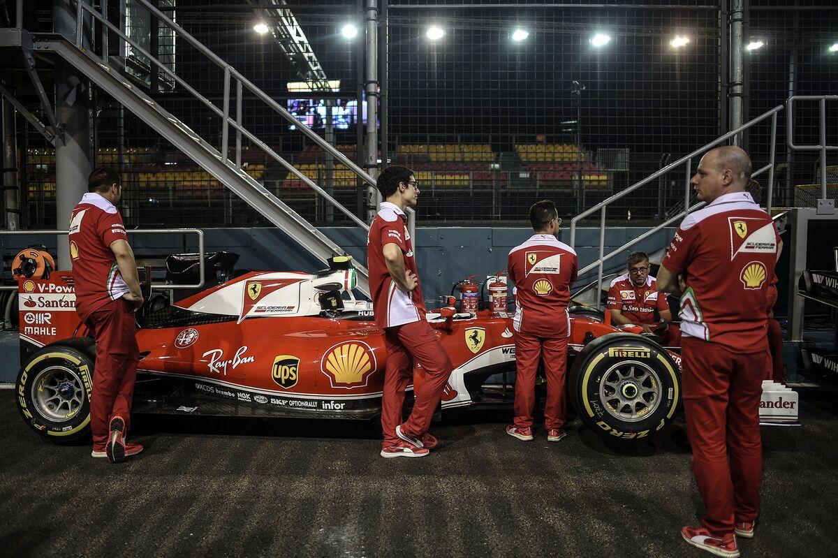 Ferrari Takes Singapore