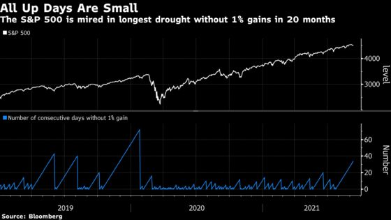Big Up Days Are Gone as Corrections Hit Half of S&P 500 Stocks