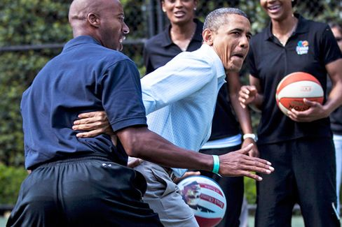 The Obama Lotteries Move From Hollywood to Hoops