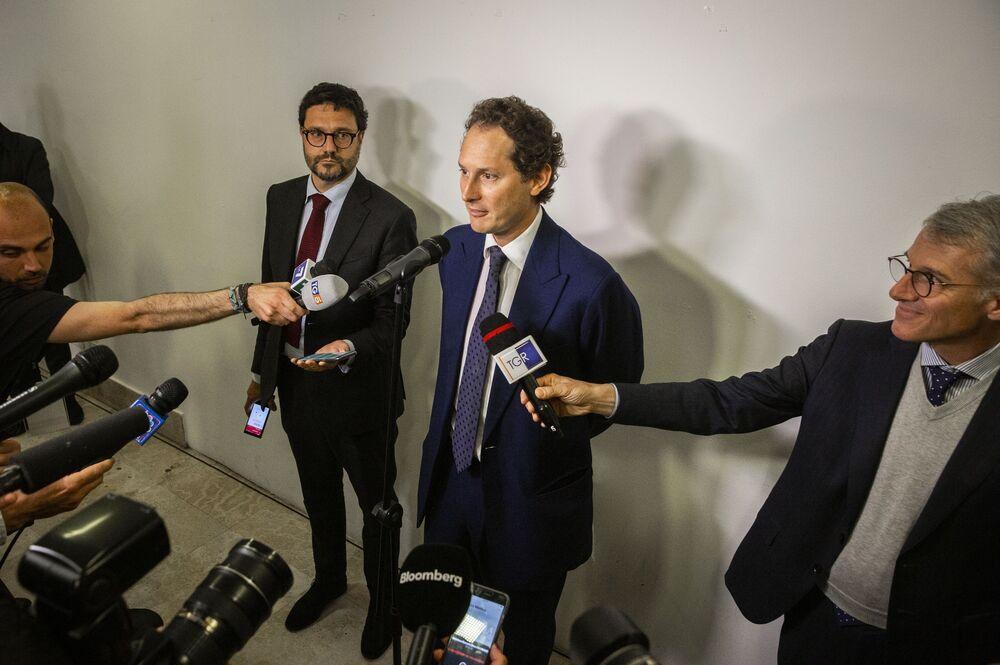 Auro Palomba fotografato insieme a John Elkann, presidente di FCA