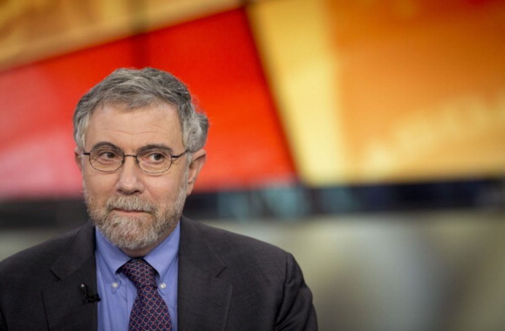 Paul Krugman during a Bloomberg Television interview in 2013.