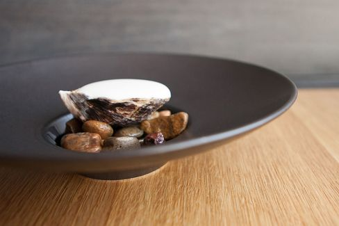 A dish at Commis,James Syhabout's Oakland restaurant which graduated this year to two stars.