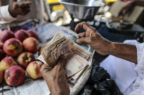 Rupee Seen World's Most-Volatile on Slippery Path