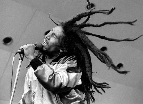 Reggae Musician Bob Marley