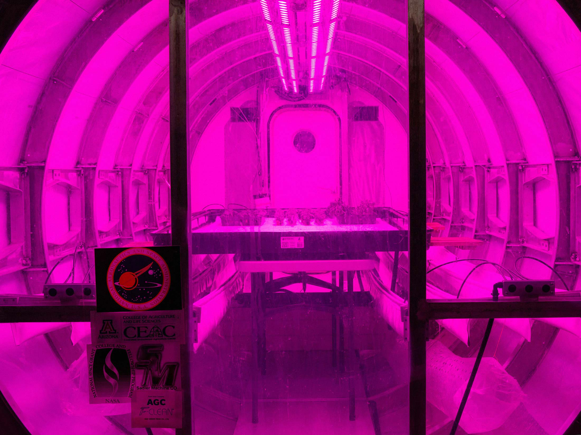 The University of Arizona's prototype lunar greenhouse.  -  1x 1 - Growing Better Lettuce in Space May Improve Agriculture on Earth