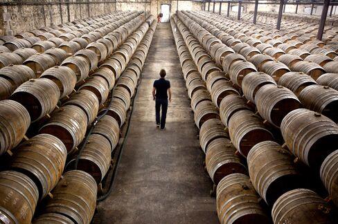 Cognac Barrels in France