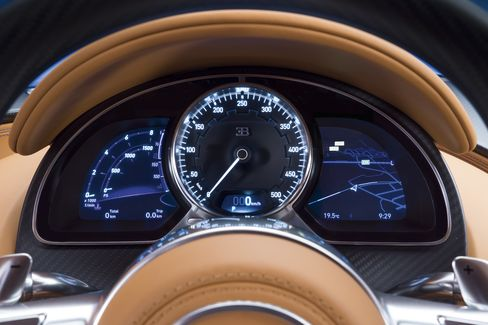 Top speed on the analog speedometer is listed at 500 km/h (311 mph), but reps say the car can go faster.