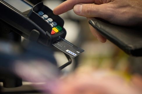 A customer makes a payment using a card with an EMV chip.