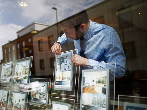 The average home in London now sells for 498,000 pounds after gaining 11.2 percent in the 12 months through March, the data shows, as a shortage of dwellings drives values higher.