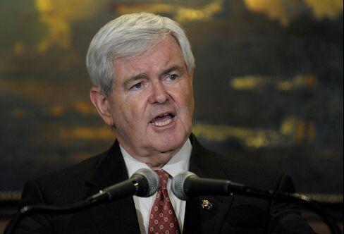 Former U.S. House Speaker Newt Gingrich