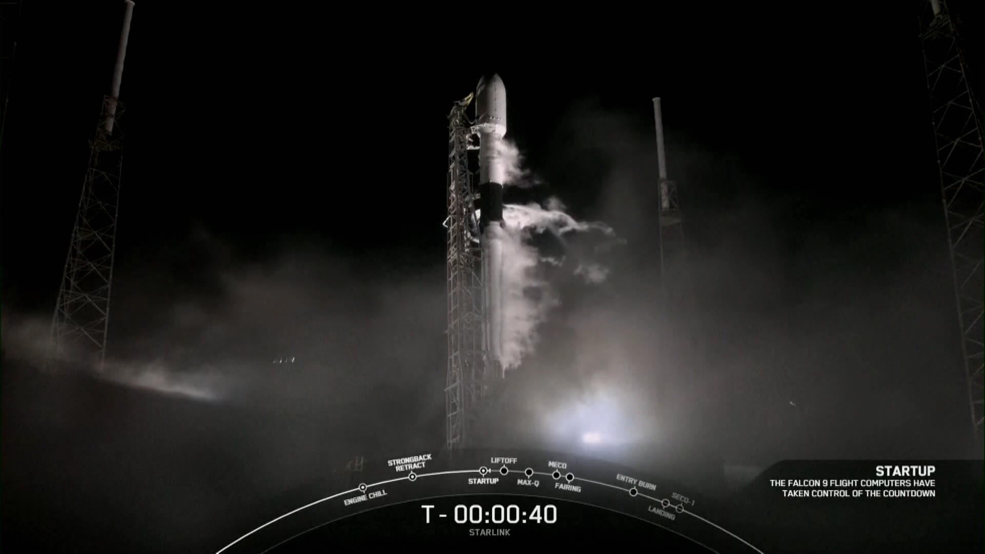 SpaceX Launches Falcon 9 Carrying 60 Starlink Satellites