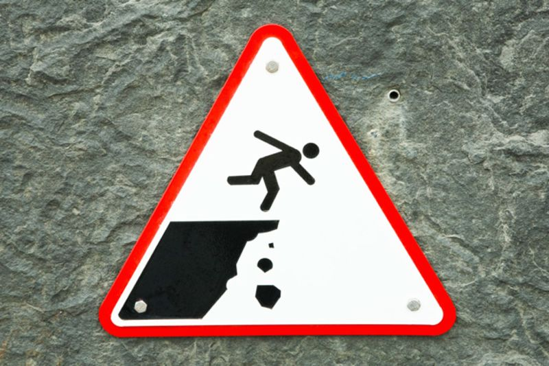 Image result for falling off a cliff