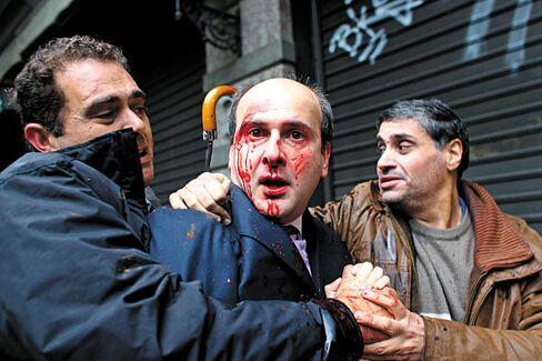 Riots in Greece: George Papandreou Speaks