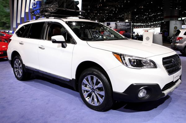CHICAGO - FEBRUARY 10:  2018 Subaru Outback is on display at the 109th Annual Chicago Auto Show at McCormick Place in Chicago, Illinois on February 10, 2017.  (Photo By Raymond Boyd/Getty Images)