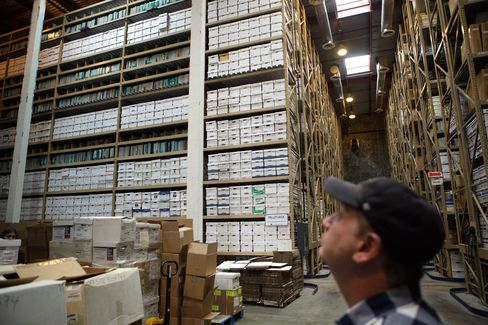 Inside the Iron Mountain archival facility in Hollywood.