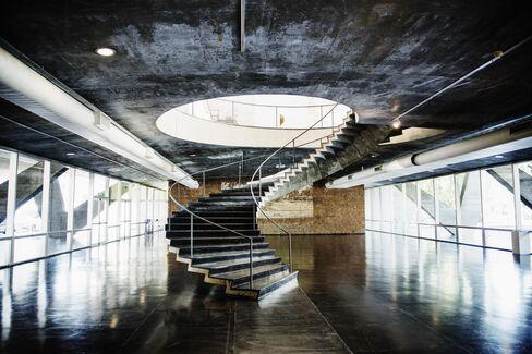 Inside Rio's Modern Art Museum.