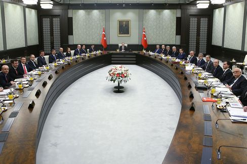 Turkey's President Erdogan presides over cabinet meeting