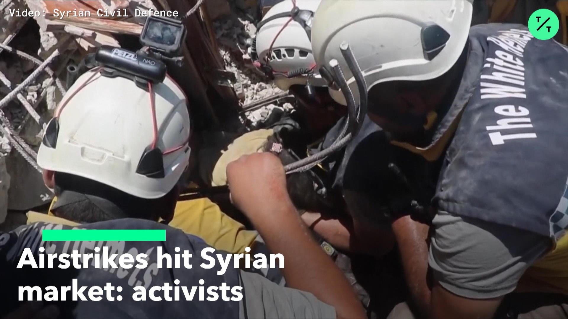 Airstrikes Hit Syrian Market: Activists