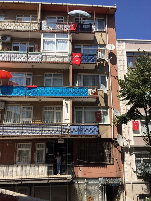 The building where locals say Erdogan lived.