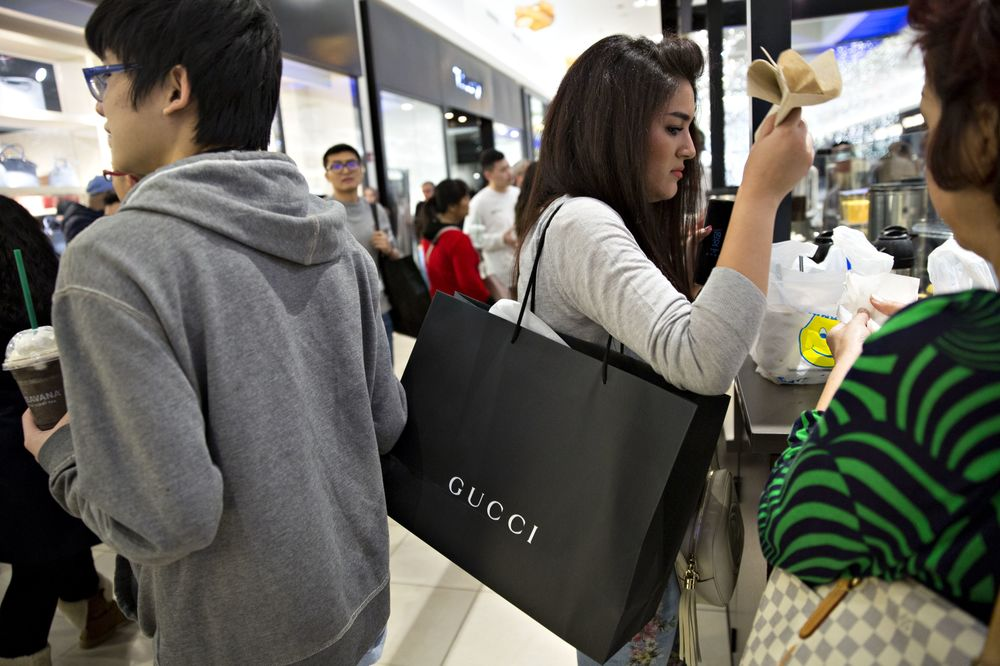 ef84979a851 Shoppers Inside The Fashion Outlets Of Chicago Mall For Black Friday Sales