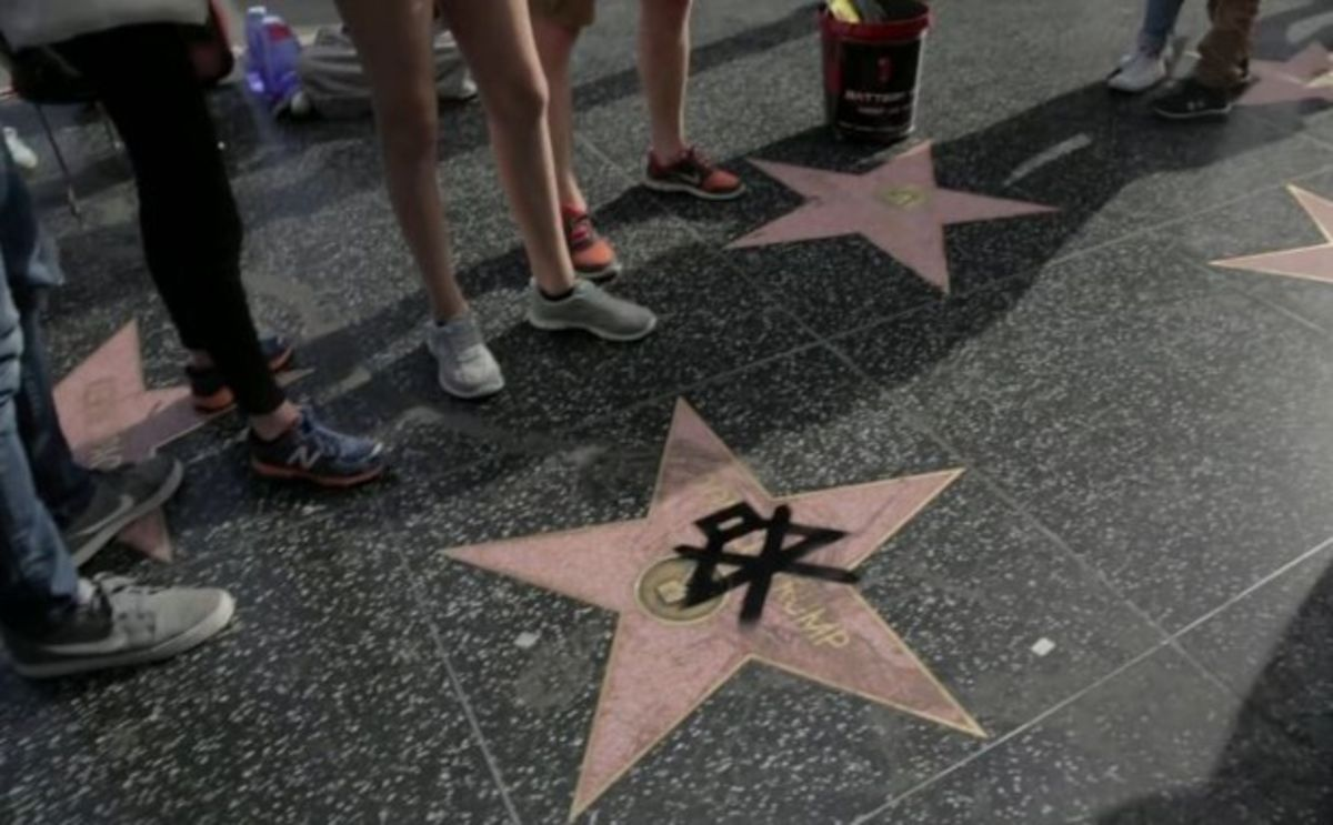Donald Trump's Star Gets 'Muted' on the Hollywood Walk of Fame