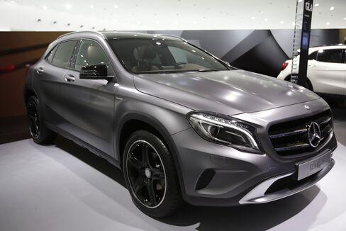 A Mercedes-Benz GLA compact SUV Automobile