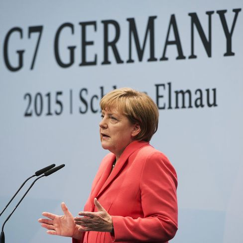 German Chancellor Angela Merkel attends the 2015 G-7 Summit in Germany.