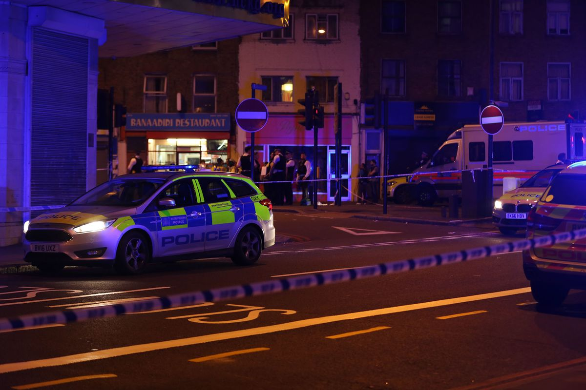 1 Dead, 10 Hurt in Crash Near Mosque Suspected as Terrorism