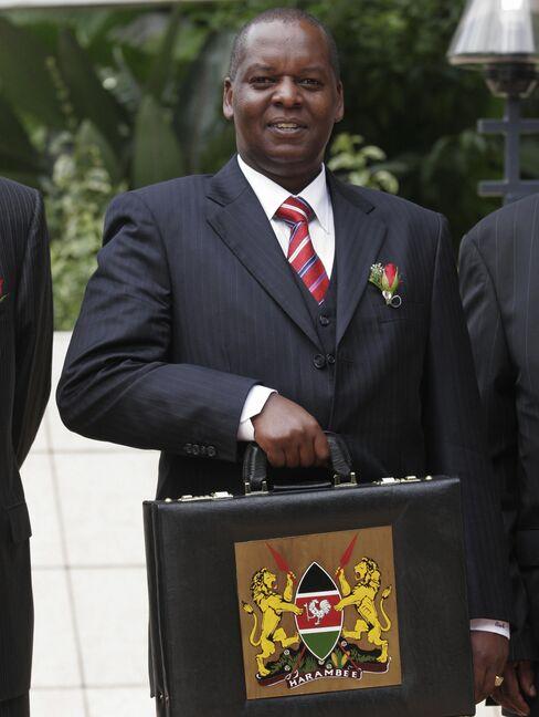 Kenya's Transport Minister Amos Kimunya