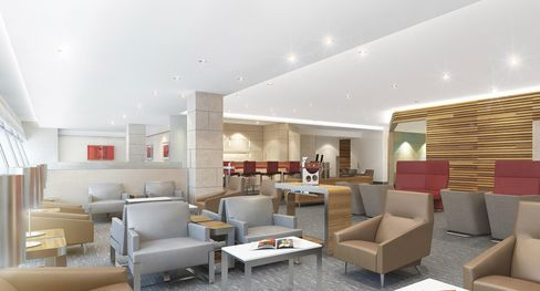 Design for American Airlines' new lounges.