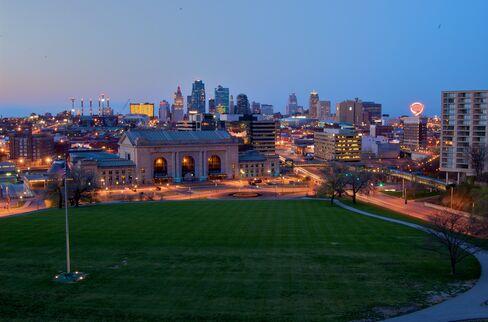 The Kansas City (Mo.) skyline.