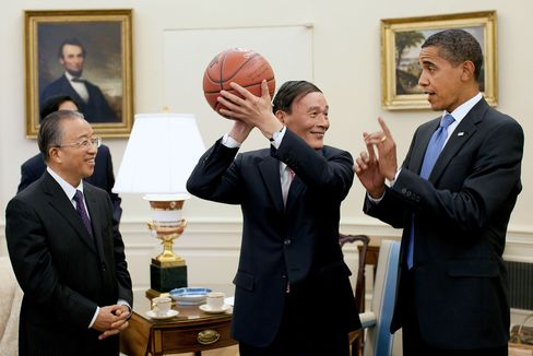 Vice Premier Wang Qishan and President Barack Obama