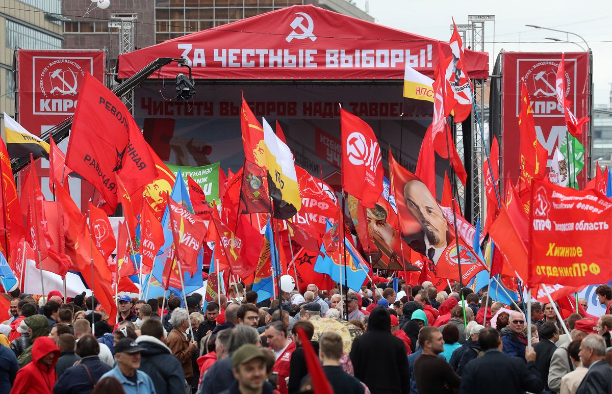 Communists Rally in Moscow as Opposition Takes Weekend Off
