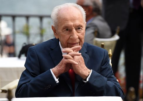 Israel's former president Shimon Peres has suffered a stroke. Picture