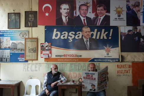 Erdogan Posters in Istanbul