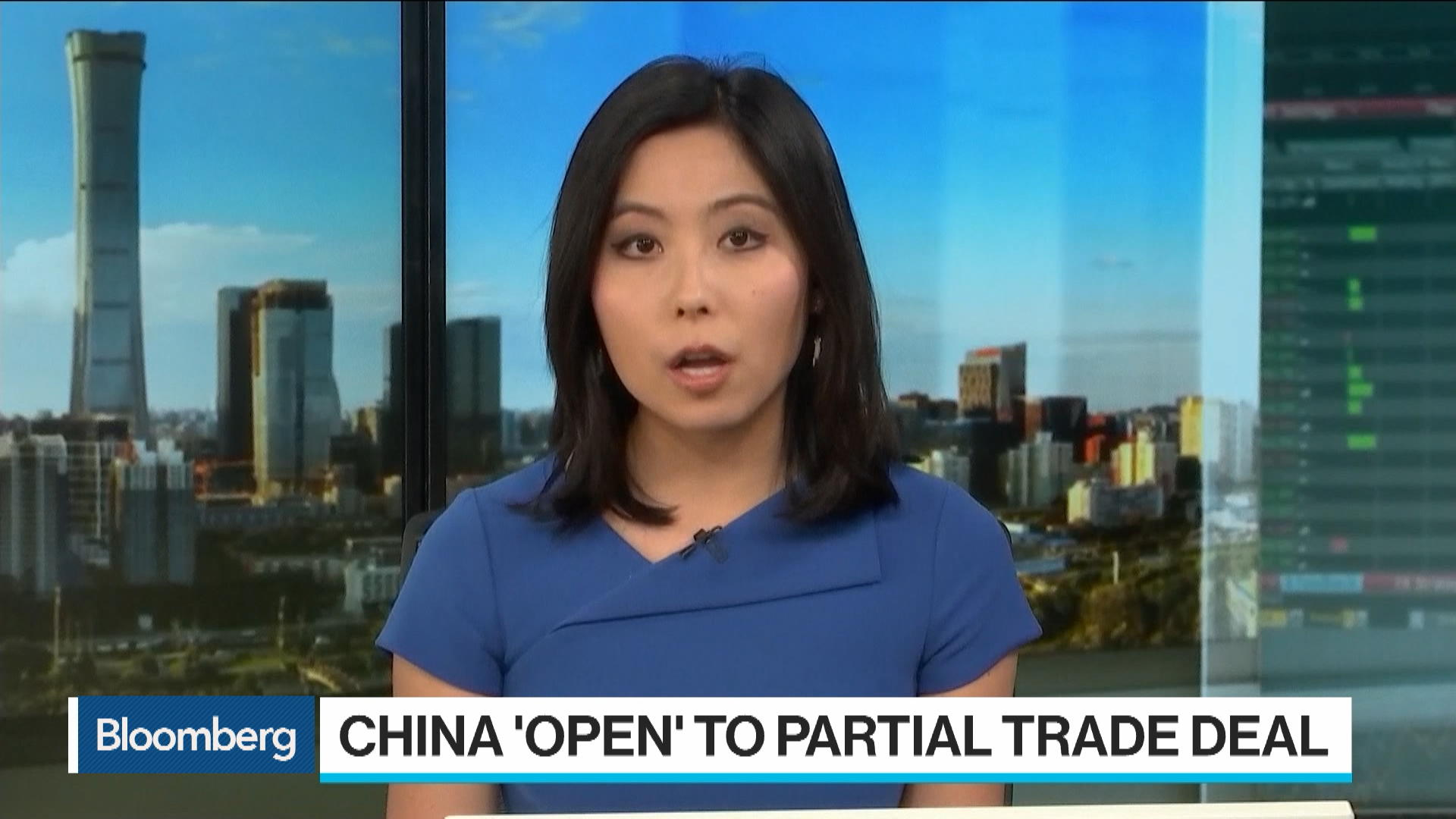 China Open to Small Trade Deal