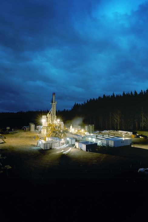 A Drilling Rig at the Ngatamariki Geothermal Development site