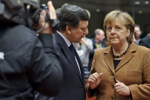 German Crisis Stance Challenged by EU Call for Direct Bank Aid
